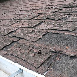 old asphalt shingle